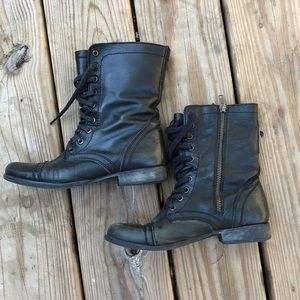 Steve Madden Troopa Boot Black Leather